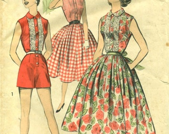 Advance 7936 PLAYSUIT DRESS VINTAGE 1950s circa 1956