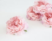 Set of 3 Smaller Cabbage Peonies in Pink- 3.5 inches - ITEM 0302