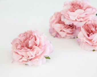 Set of 3 Smaller Cabbage Peonies in Pink- Artificial Flowers - 3.5 inches - ITEM 0302