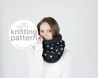 Knitting Pattern / Fair Isle Cowl, Scarf, Tube Cowl / THE KODIAK Fair Isle Cowl