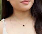 LAVA ROCK diffuser jewelry for essential oils - simple / minimalist lava halo / circle necklace