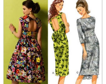 PLUS SIZE DRESS Sewing Pattern Easy Retro Vintage Dresses 5 Sizes 14-22