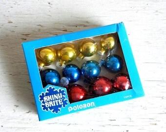 Shiny Brite Christmas Ornaments   Feather Tree Ornaments   Poloron   Original Box