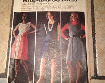 Butterick 3221 Size 10 Misses' Wrap-n-go Dress Pattern UNCUT