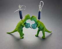 Dinosaur Earrings with Sterling Silver