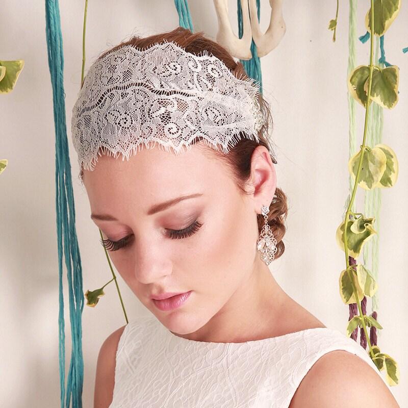 Headpieces For Weddings Australia: Shanelle Bridal Headpiece Bridal Lace Headband Veil Vintage