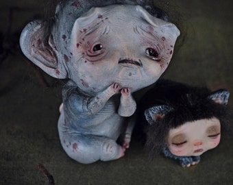 RESERVED! - Little Nightmares - art doll, surrealism, spider, spiders, creatures, halloween, halloween doll, cat, monster, monster doll