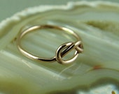 Gold Knot Ring / Gold Filled Infinity Ring / Mother Daughter Ring / Friendship Ring / Sisters Ring