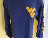West Virginia 1980s soft long sleeve - size medium