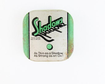 Vintage Condom Tin: Shadows Age Resisting Prophylactic
