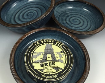 Brie Baker - Brie Dish - Recipes Included - Baking Dish - Hummus Dish - Appetizer Dish, Textured Rim - Baking Dish - In Stock, Ready to Ship