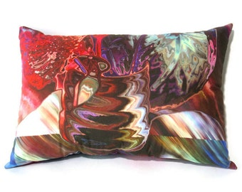 Artsy Pillow, Abstract Art Pillow, Abstract Throw Pillow, Colorful Art Pillow, Abstract Wine Art, Abstract Pillow
