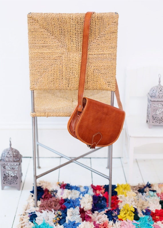 Gift Ideas, Moroccan Brown Tan Round Leather Satchel Cross Shoulder Straps Berber style-bag, tote, handbag, purse, gifts