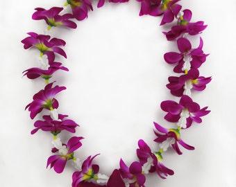 Hawaiian Plumeria Orchid Flower Lei Choose color