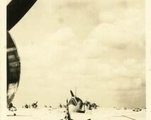 "Real Photo Postcard ""Ready for Flight"" War Military Airplane Vintage RPPC Photo Black & White Photograph Old Paper Ephemera Vernacular - 16"