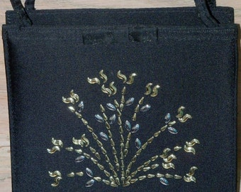 Purse Black Wedding Bride Bridal Party Junior Attendant Prom Restyled Assemblage Gift for Her