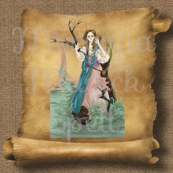 Stream Goddess  Royalty Free Clip Art