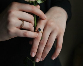 Antique Engagement Ring, Custom Engagement Ring, Solitaire Engagement Ring, Marie Antoinette Ring, Payment Plan, Diamond Alternative Ring.