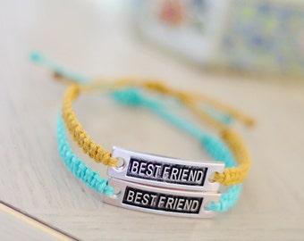 Best Friend Bracelets - Set of Two Hemp Bracelets - Hemp Jewelry