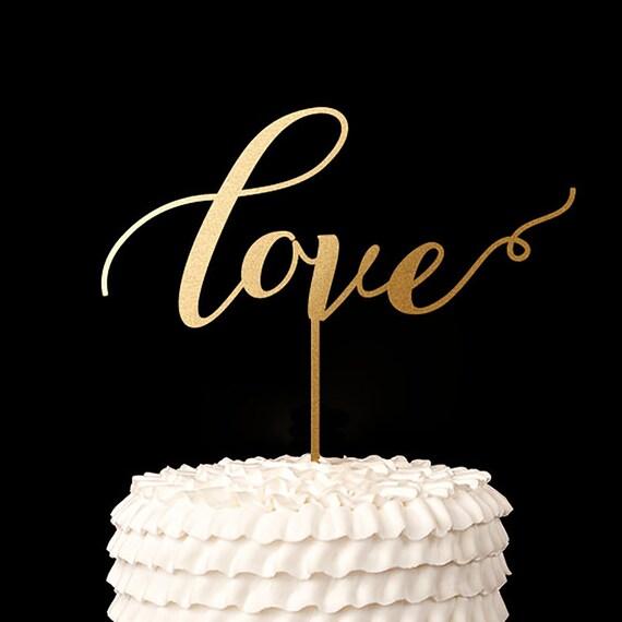 Cake Toppers Etsy Uk : Love Cake Topper