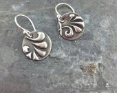 Sterling Silver Round Plume Earrings - Petite Pairs - Gifted - As seen on - Jane the Virgin - Sterling Silver Earrings - Jewelry - Dangle