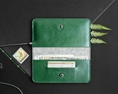 iPhone 6 leather wallet, case with money pocket, iPhone 6 Plus sleeve / RANCH (Green)