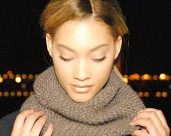 Brown Cowl Neck Scarf