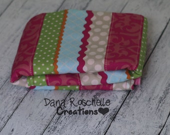 baby girl blanket, security blanket, mini blanket, soft baby blanket, minky blanket, baby blanket, ready to ship