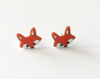 Little Fox Earrings, Fox Stud Earrings