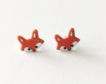 Little Fox Earrings, Fox Stud Earrings
