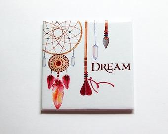 Dream magnet, Dreamcatcher magnet, Tribal Design, Fridge magnet, Stocking Stuffer, Magnet, Locker magnet, Dream, dreamcatcher, BoHo (5847)