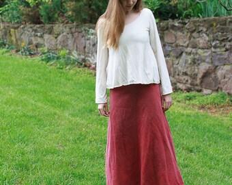 Lovely Day Skirt in Organic Cotton Fleece