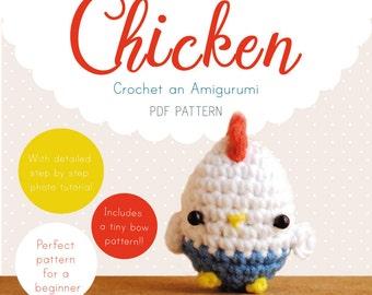 Chicken Amigurumi Pattern, Chicken Crochet Pattern, Chicken Amigurumi PDF pattern