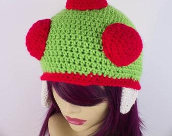 Crochet Metroid Inspired Hat