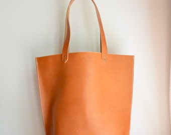 Bridle leather Market Tote