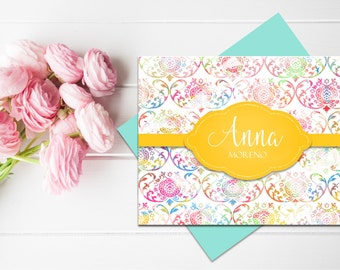 Personalized Stationery | Personalized Stationary | Watercolor Stationery | Personalized Thank you Cards | Personalized Notecards