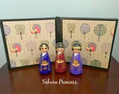 "Three Korean Kings / Wise Men - Nativity Set Add On - 3.5"" tall"