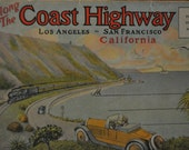 1920's Art Deco Coast Highway Souvenir Photo Folder