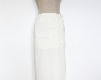 Vintage Lightweight Breezy Summer Tiered Maxi Skirt by Linda Lundstrom