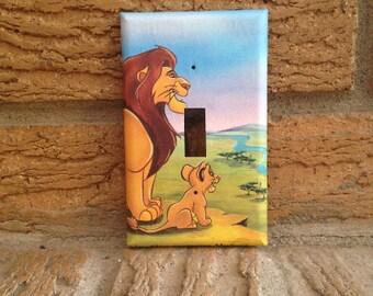 Simba and Mufasa Light Switch Plate, Lion King Nursery, Lion King Decoration, Lion King Baby Shower, Lion King Simba, Lion King Mufasa, LK23