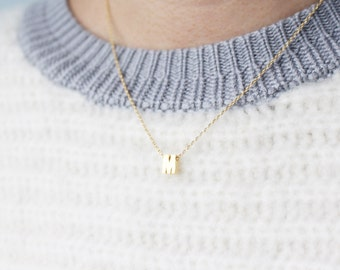 Initial necklace - Gold initial necklace