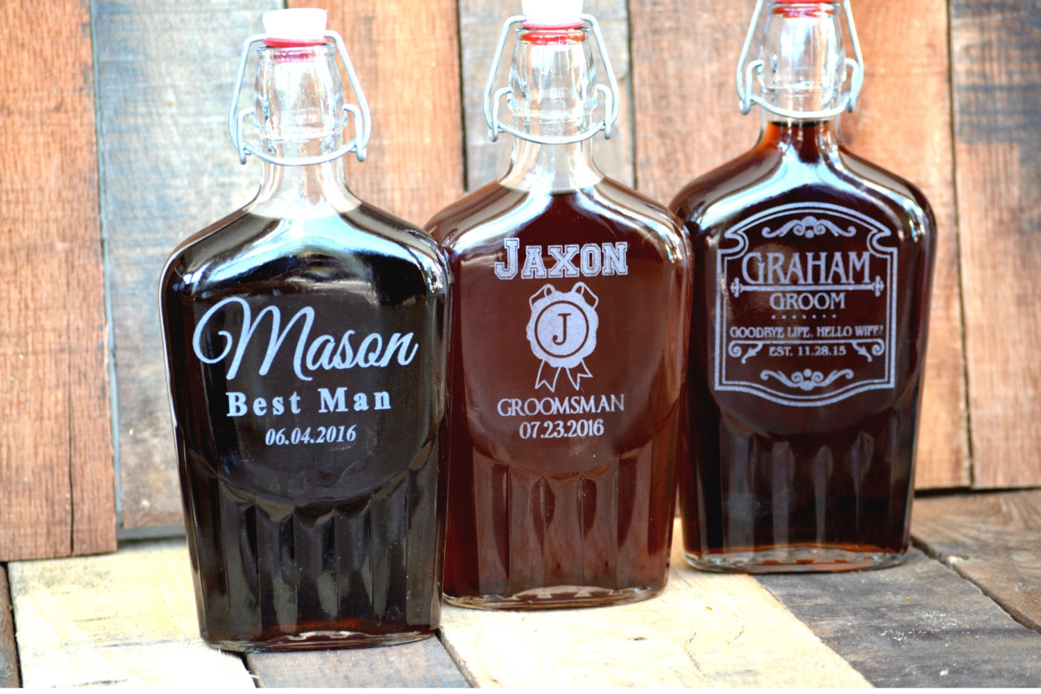 Mens Wedding Gifts From Bride: Groomsmen Flask Mens Wedding Gift Personalized Whiskey