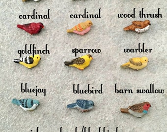 U-Pick Miniature Bird - Your Choice of Miniature Bird, Fairy Garden Accessories, Dollhouse Miniature Supplies, Fairy Birds