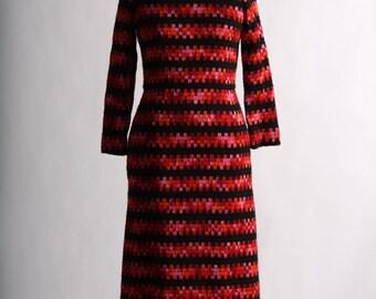 1960's Mod Bergdorf Goodman Wool Maxi