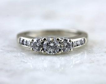 Past, Present, Future, Forever: Divine Modern Diamond Engagement Ring YHEMT4-D