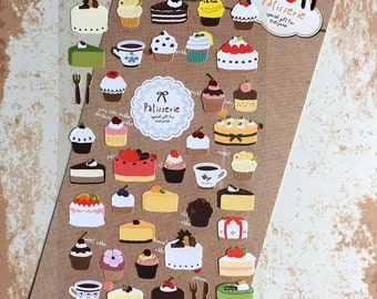 cake sticker cupcake sticker handmade Cake colorful cake lovely Dessert icon yummy cake sticker cooking recipes icon baking planner sticker