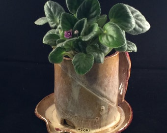 Flower Pot ~ Handcrafted Stoneware Pottery
