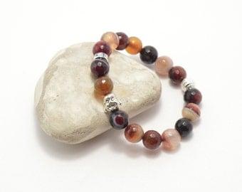 Brown agate Buddha bracelet, stone bracelet, Buddha bracelet, agate bracelet, natural stone, semi-precious stones, stone bracelet
