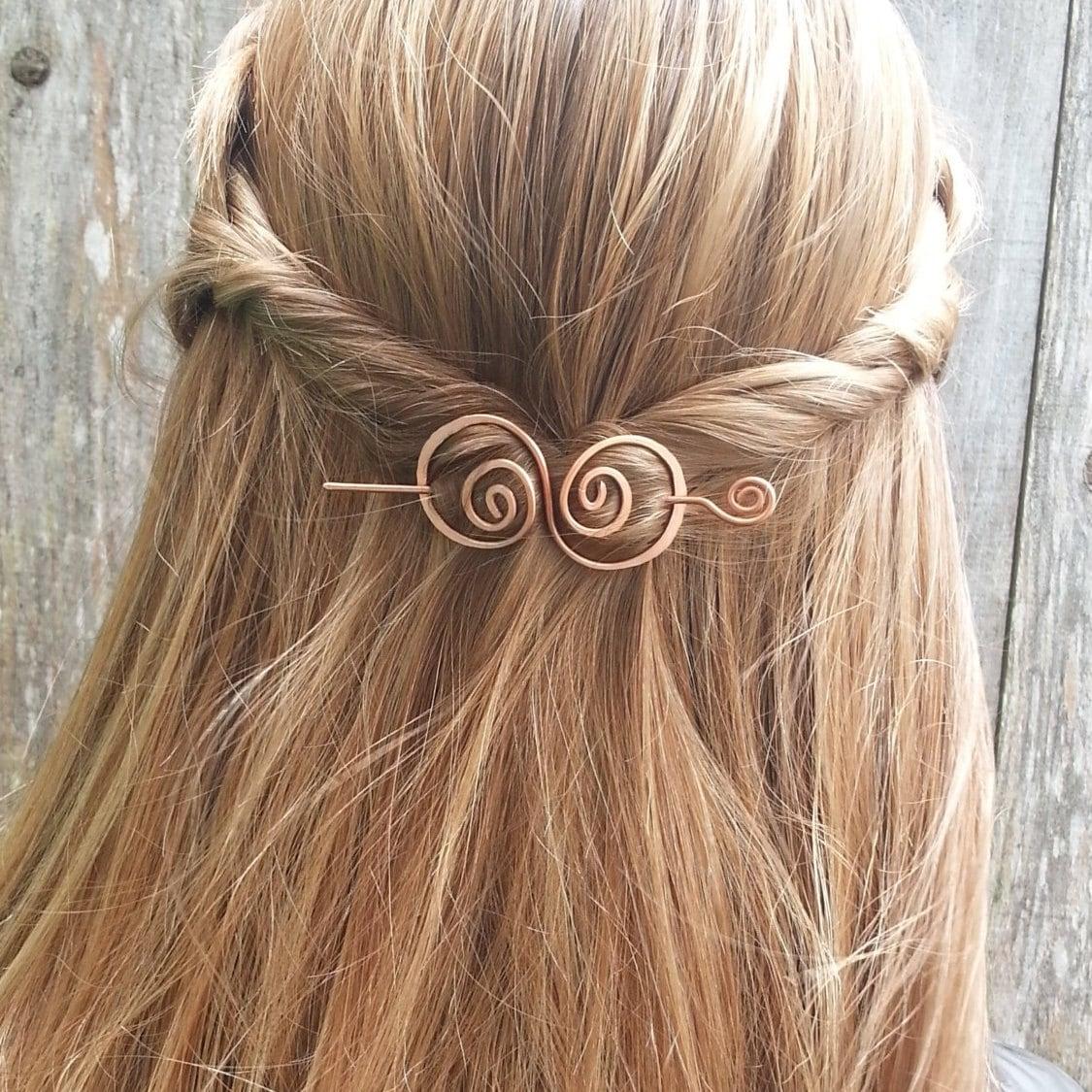 Hair barrette copper h...