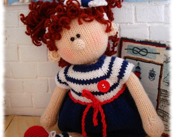 Toy Knitting Pattern / knitting pattern doll / doll DIY tutorial / knitted doll making /Alice - Emil's Girlfriend